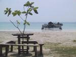 静かなトリコラビーチ