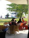 イーストコーストパーク セイリングクラブ内のカフェ