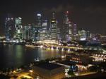 シンガポールの夜景  リッツカールトンホテルからの眺望